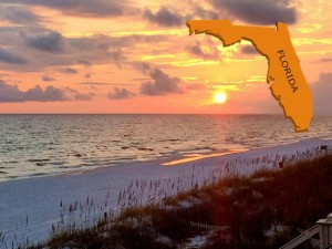 Florida with sunset